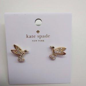 Kate Spade New Gold Pave Hummingbird Earrings